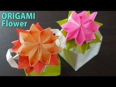かわいい花の折り方/おりがみ2枚使います。ORIGAMI【折り紙】 - YouTube