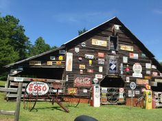 Old Barn with signs.....