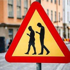 street art in Stockholm, Sweden Satire, Funny Signs, Funny Memes, Cell Phone Addiction, Technology Addiction, Street Art, Street Style, Nova, Funny Pictures