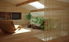 Une mezzanine sous les combles façon terrasse - Côté Maison