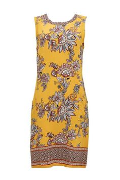 Pinterest Paisley Print Dress, Work Wear, Going Out, Summer Dresses, Yellow, Model, How To Wear, Beautiful, Fashion