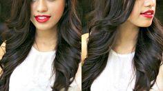 How to: Easy Flat Iron Curls (No Twisting! Medium Hair Cuts, Medium Hair Styles, Natural Hair Styles, Short Hair Styles, Open Hairstyles, Bride Hairstyles, Flat Iron Curls, Loose Waves Hair, Wave Hair