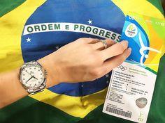 Torcendo para os meninos do Brasil na ginástica artística com a @omega #OmegaOfficialTimeKeeper #Rio2016 #olimpiadas2016