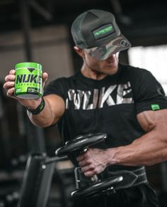 NUKE all workouts! 🐲 . We often get asked if taking a pre-workout will make you bigger, stronger and faster. The truth of the matter is it probably will not, but it will help you crush that next workout. And here's the kicker, if you crush enough workouts, over time, you'll definitely become bigger, stronger and faster. #Preach 💪 . #NUTRITECH #MADEAFRICASTRONG #PREWORKOUT #NTNUKE #NUKEORIGINAL #GYM Crossfit Box, Beta Alanine, How To Increase Energy, Just The Way, Barbell, Workouts, Muscle, Photoshoot, Gym