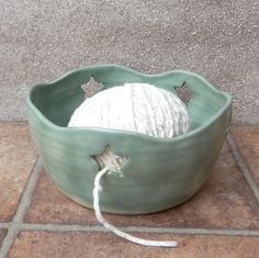 Yarn bowl ....knitting or crochet... wheelthrown stoneware pottery