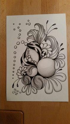 ZIA Dibujos Zentangle Art, Zentangle Drawings, Doodles Zentangles, Doodle Drawings, Zantangle Art, Zen Art, Mandala Doodle, Tangle Doodle, Doodle Patterns