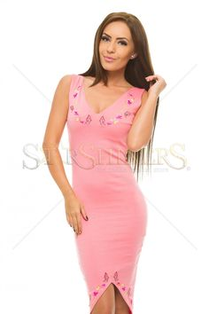 StarShinerS Brodata Tenderly Rosa Dress