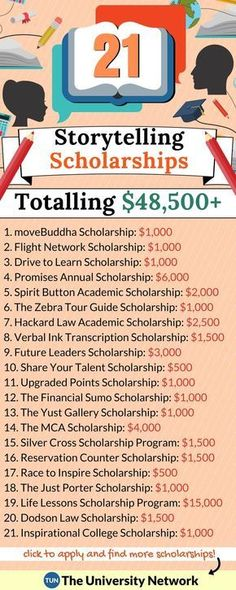 Here are 21 scholarships that pay you to share your story!