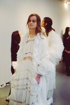 RCA MA FASHION 2014 Janni Vepsalainen Backstage shot by Jamie Stoker