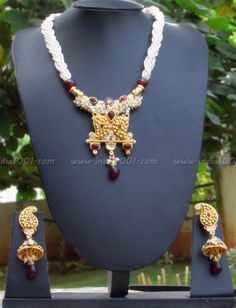 Designer Pearl & Polki Necklace Set – India1001.com