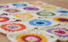 Cómo hacer cuadrados a crochet