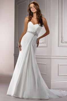 2012 Wedding Dresses A Line Sweetheart Court Train Chiffon USD 159.99 LDP4LF9EJT - LovingDresses.com