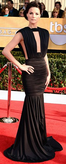 Jaimie Alexander at the 2013 SAG awards wearing a Marc Bouwer gown
