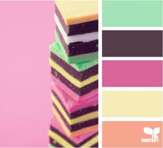 Cute colors for girl cards - AMAZING site for color palette inspirations.
