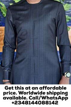 Call, SMS or WhatsApp if you want this style, needs a skilled tailor to hire or you want to expand more on your fashion business. Latest African Men Fashion, Latest African Wear For Men, African Shirts For Men, African Dresses Men, Nigerian Men Fashion, African Attire For Men, African Clothing For Men, Calypso Clothing, Kaftan Men
