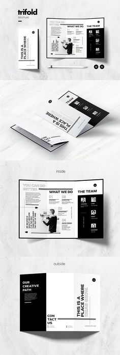 Multipurpose Trifold Brochure by Marie T on can find Brochure layout and more on our website.Multipurpose Trifold Brochure by Marie T on Graphic Design Brochure, Brochure Layout, Brochure Template, Brochure Trifold, Brochures, Creative Brochure Design, Corporate Brochure, Brochure Ideas, Layout Design