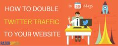 Looking to increase traffic from Twitter to your website? Here's some actionable tactics you can take. Social Media Tips, Social Media Marketing, Digital Marketing, Twitter Help, Marketing Articles, 30 Day, At Least, Infographic, Advice