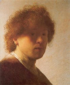 Self-portrait as a Young Man, 1628 Rembrandt - by style - Baroque