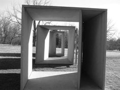 TITLE: Untitled    ARTIST(S): Donald Judd    DATE: 1984. Installed Jan. 1985.    MEDIUM: Concrete with steel reinforcements.    CONTROL NUMBER: IAS 63700062    Direct Link to the Individual Listing in the Smithsonian Art Inventory: [Web Link]    PHYSICAL LOCATION:   Laumeier Sculpture Park  12580 Rott Road  St. Louis, Missouri