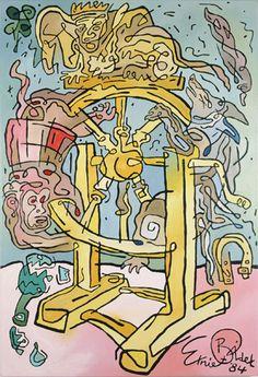 Wheel of Fortune - Ernie en Bidet - 1984  Maat: 140cm x 95cm  Materiaal: olieverf op doek  Inventarisnummer: K85191