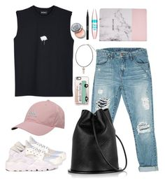 """""""<~Back to School Edition: Casual~>"""" by maitha19 ❤ liked on Polyvore featuring Sans Souci, NIKE, adidas, Boohoo, Maybelline, Stila, Bobbi Brown Cosmetics and Casetify"""