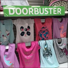Kick sales up a notch with a Doorbuster Shelf-Overlay Shelf-Talker. Placed on a top shelf it creates a Header Sign for all that falls beneath. Shelf Talkers, Retail Merchandising, Overlays, Shelves, Sweatshirts, Sweaters, Tops, Fashion, Moda