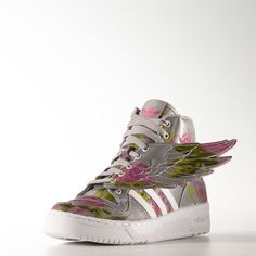 Jeremy Scott x Adidas Wings Floral Shoes - Grey | adidas US