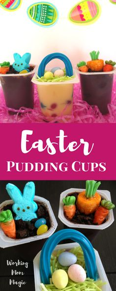 These Easter pudding cups will be a hit with the kids! | kids dessert | Easter