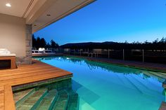 Indoor/Outdoor Pool in West Vancouver #blurrdMEDIA