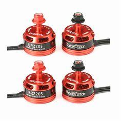 高品質4ピースracerstarレーシング版2205 BR2205 2600kv 2-4 sブラシレスモーターcw/ccw QAV250 ZMR250 260 280 rcモデル