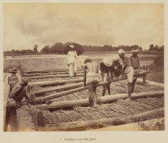 Loading a vat with plant; Oscar Mallitte (British, about 1829 - 1905, active Allahabad, India 1870s); Allahabad, India; 1877; Albumen silver print; 18.7 x 23.4 cm (7 3/8 x 9 3/16 in.); 84.XO.876.8.7; J. Paul Getty Museum, Los Angeles, California