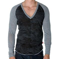 SKINNY Core Baseball Tee by Andrew Christian in Vintage Black