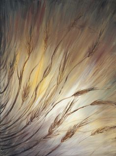 Wheat In The Wind Painting  - Wheat In The Wind Fine Art Print