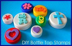 Bottle cap stamps!