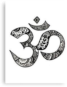 'Om Sign' Sticker by alexavec Unique Tattoos, Small Tattoos, Om Art, Om Sign, Yoga Tattoos, Bicep Tattoos, Ankle Tattoos, Filipino Tattoos, Polynesian Tattoos