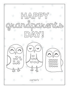 Free happy grandparents day printable