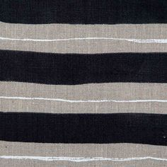 Painted Stripe Fabric in Black & Natural