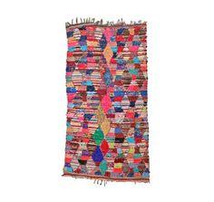 Alfombra marroquí BOUCHEROUITE. Mediados siglo moderno pared arte. Pintura abstracta colorida alfombra. Bohemio 60s edredón Kilim. Argyle Ar...