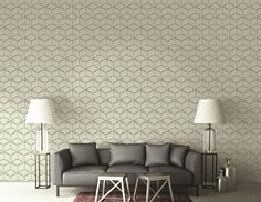 Based on the effects of #light and #shadow, the 3D #wallcovering collection of #patterns creates three dimensional effects that are #sleek, #modern and #aesthetic. Wallcovering from #3D.