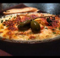 Try the crab brandade from Skool, it's delicious with mozzarella, Parmesan, creamy potato puree and purple cauliflower.