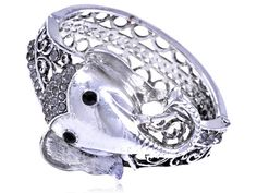Silver Elephant Bracelet by HersheeUniquedesigns on Etsy, $21.00