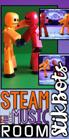 STEAM in the Music Room Use StikBots to create easy stop animation videos in your music classroom.  Simple and intuitive to use, your students will be stars in no time!
