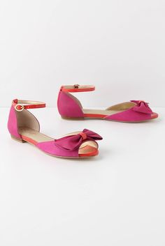 Hot Pink Bow Sandals