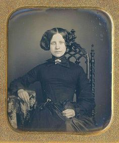 I have been looking for a Daguerreotype of a woman wearing a chatelaine. She is young and attractive, but, oh,  so staid. 1855