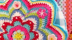 ROUND CROCHET CUSHION round Crochet Pillow by KerryJayneDesigns