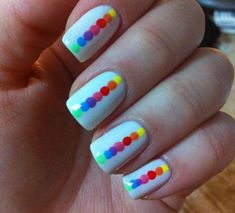 Dotted Rainbow Nails