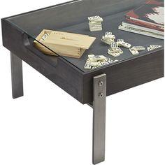 Smart Glass Top Coffee Table Rd Street Condo Pinterest Smart - Cb2 glass coffee table