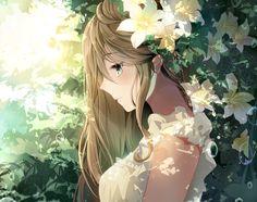images for anime art Cool Anime Girl, Beautiful Anime Girl, Kawaii Anime Girl, Blonde Anime Girl, Art Anime, Anime Artwork, Anime Art Girl, Anime Girls, Anime Comics