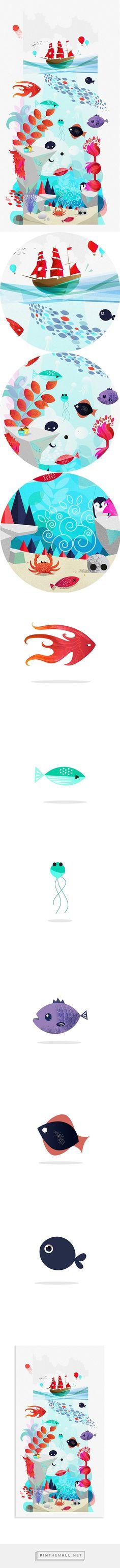 Sea Creatures on Behance