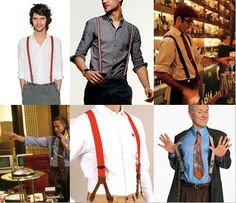 Braces or Suspenders as our American brothers and sisters call them, are in their simplest form a material strap worn over the shoulders used to hold up Braces Suspenders, Have Metal, Hold Ups, Mens Fashion, Fashion Outfits, Suits You, Menswear, How To Wear, Fasteners